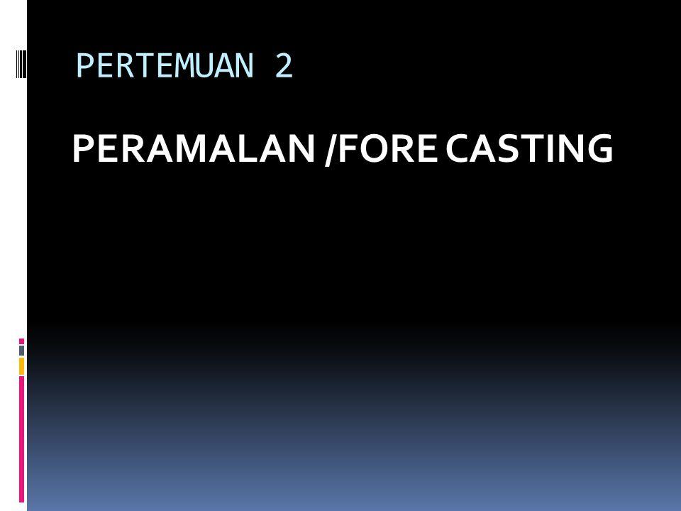 PERTEMUAN 2 PERAMALAN /FORE CASTING