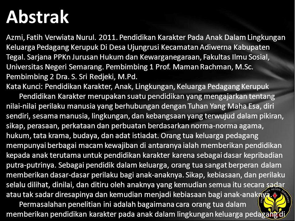 Abstrak Azmi, Fatih Verwiata Nurul. 2011.