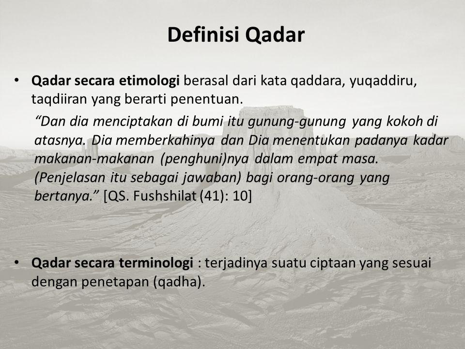 """Imam az-Zuhri berkata: """"Qadha secara etimologi memiliki arti yang banyak. Dan semua pengertian yang berkaitan dengan qadha kembali kepada makna kesemp"""