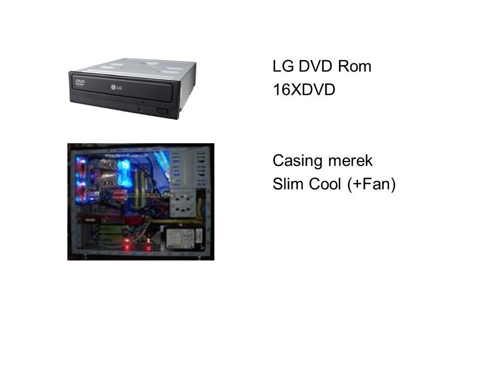 LG DVD Rom 16XDVD Casing merek Slim Cool (+Fan)