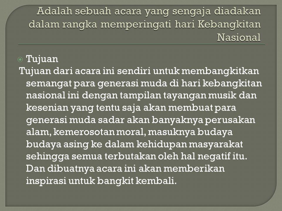  Segmen 5 Cuplikan ke2 VT tentang perjalanan hidup bangsa Indonesia Performance Naif : Air dan Api Performance Mulan : Bendera Performance The Up stairs : Disco Darurat