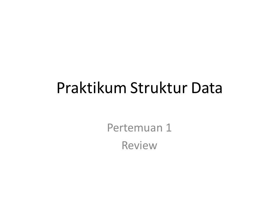 Agenda Praktikum Program Data Array Pointer Struct