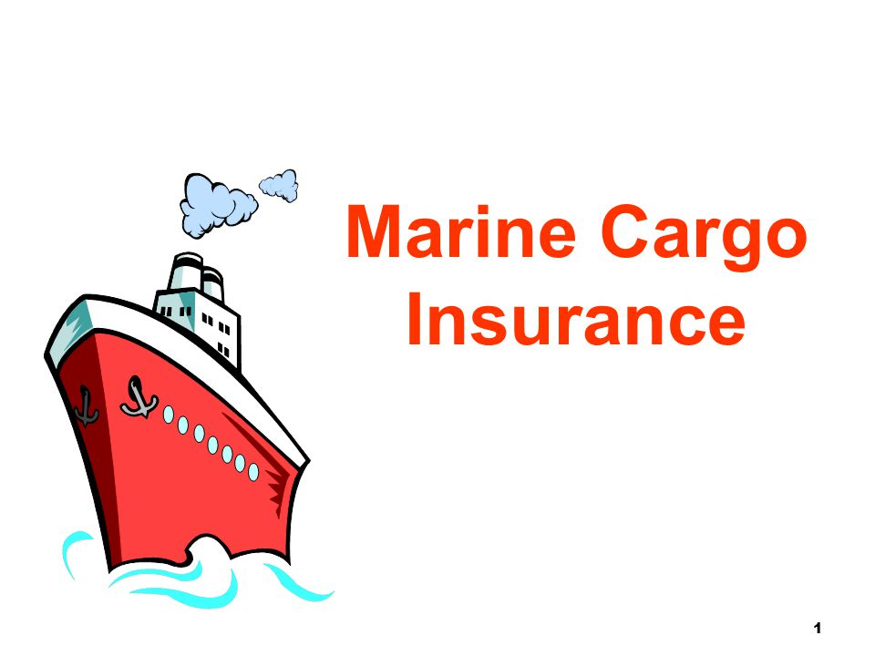 1 Marine Cargo Insurance