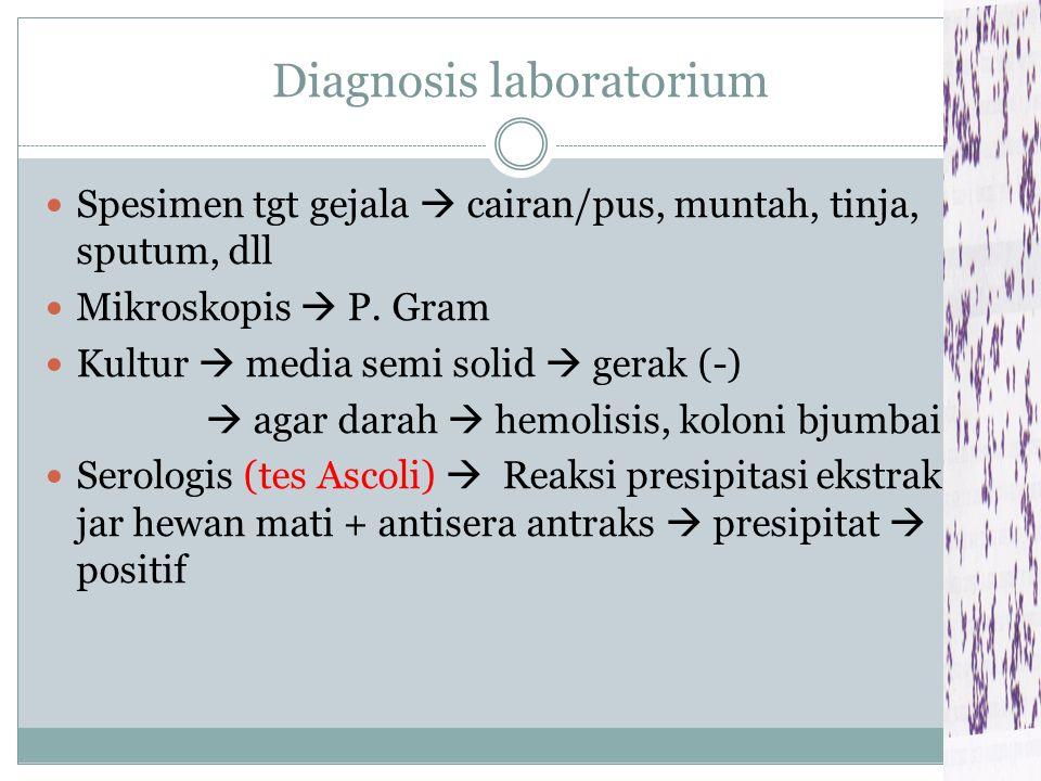 Samb.... 2. Inhalasi  pulmonary anthrax/woo sorters disease 3. Oral dg makanan/ minuman  Gastrointestinal anthrax G/: mual, muntah, diare  hemateme