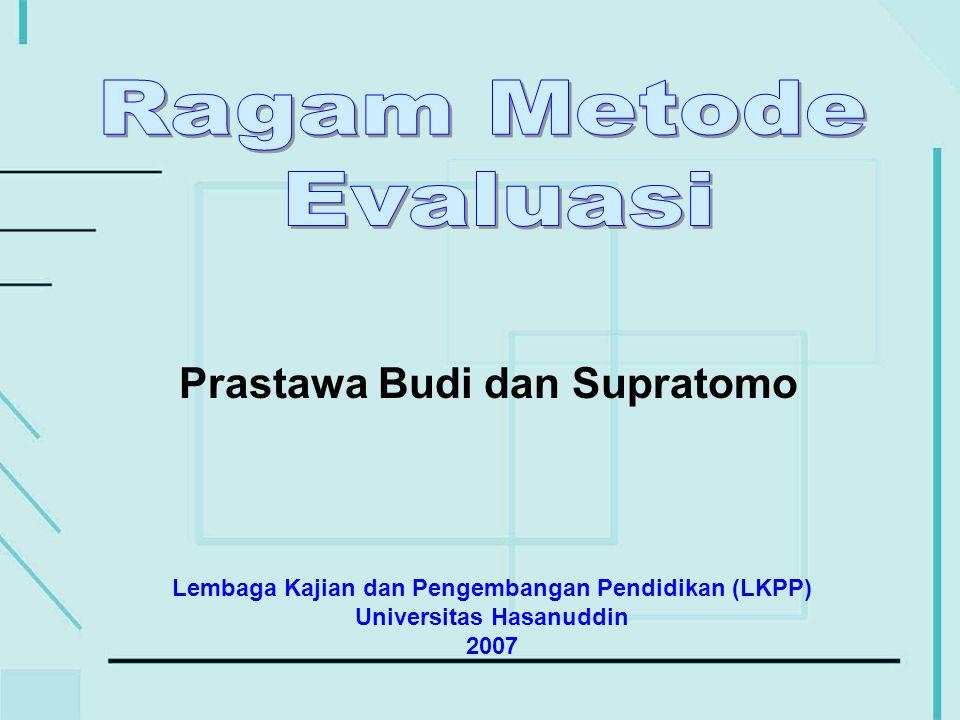 Ragam Metode Evaluasi2 Setelah mengikuti materi ini Anda dapat Setelah mengikuti materi ini Anda dapat : –Membedakan berbagai ragam evaluasi hasil belajar.