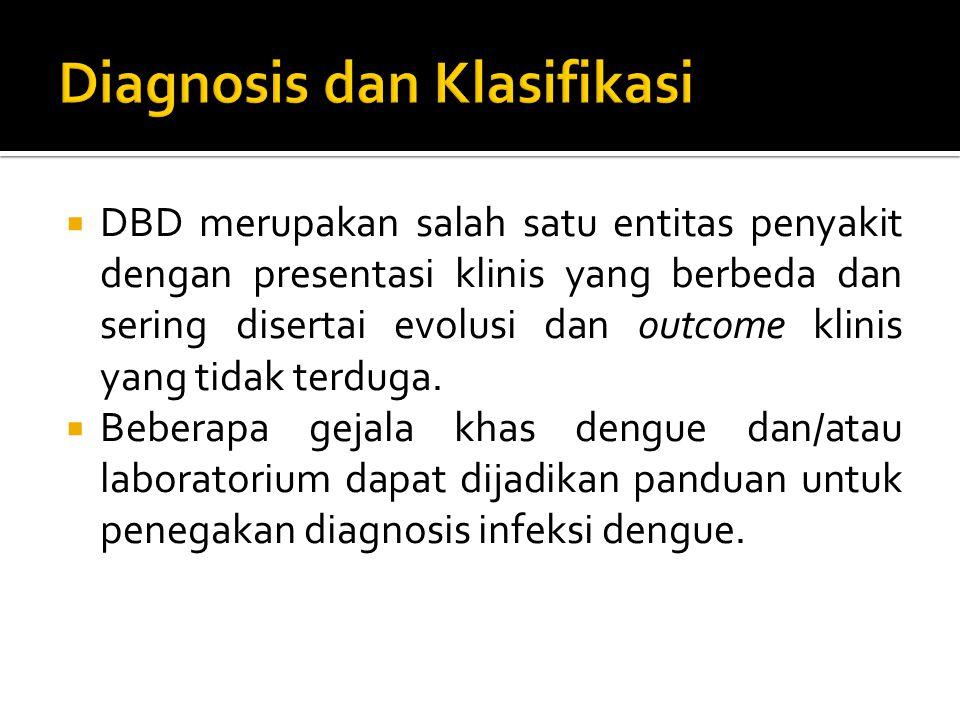  DBD merupakan salah satu entitas penyakit dengan presentasi klinis yang berbeda dan sering disertai evolusi dan outcome klinis yang tidak terduga. 