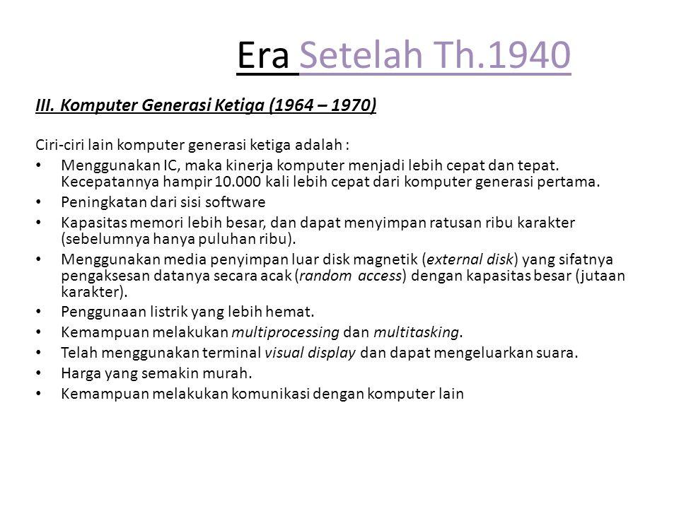 Era Setelah Th.1940 III.