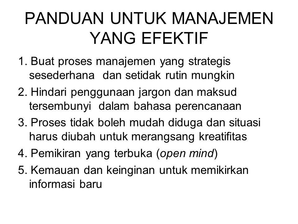 PANDUAN UNTUK MANAJEMEN YANG EFEKTIF 1.