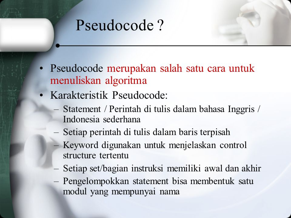 Pseudocode .