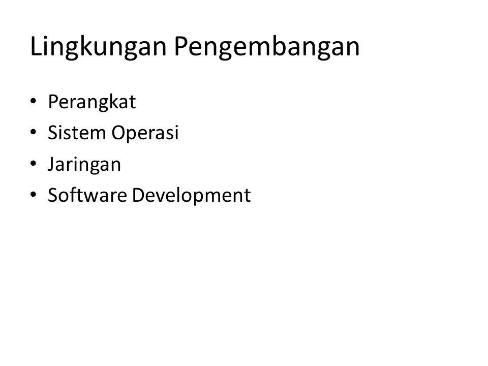 Lingkungan Pengembangan Perangkat Sistem Operasi Jaringan Software Development