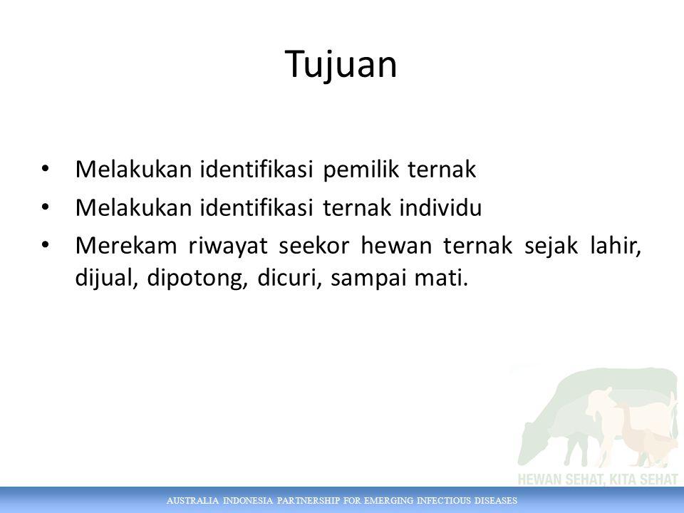 AUSTRALIA INDONESIA PARTNERSHIP FOR EMERGING INFECTIOUS DISEASES Pengguna Petugas Dinas Petugas Inseminator Pemilik Ternak