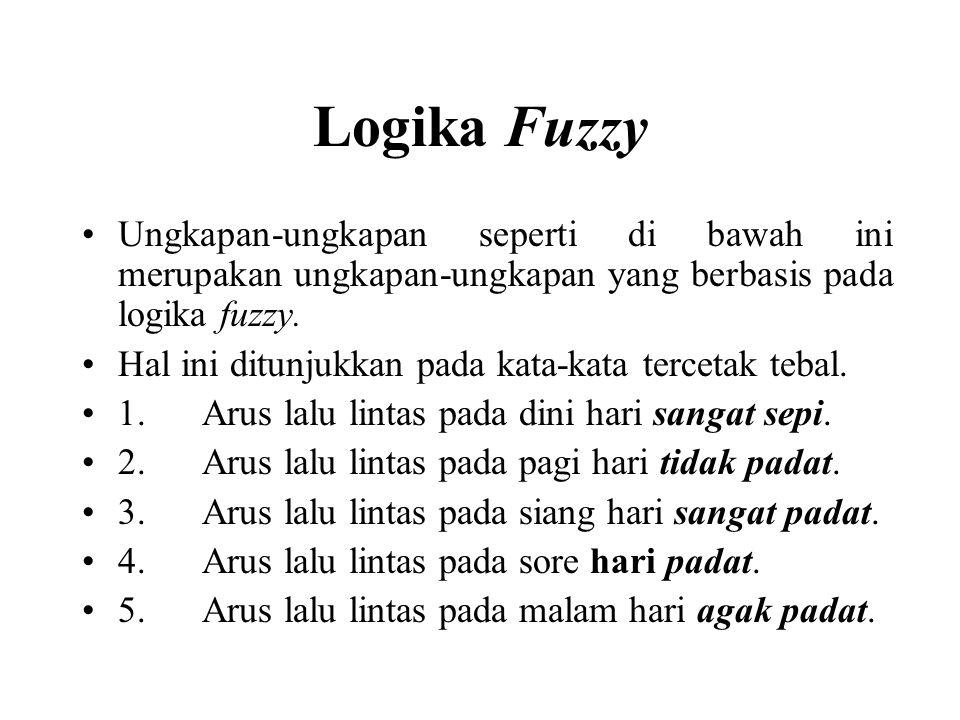 Ungkapan-ungkapan seperti di bawah ini merupakan ungkapan-ungkapan yang berbasis pada logika fuzzy.
