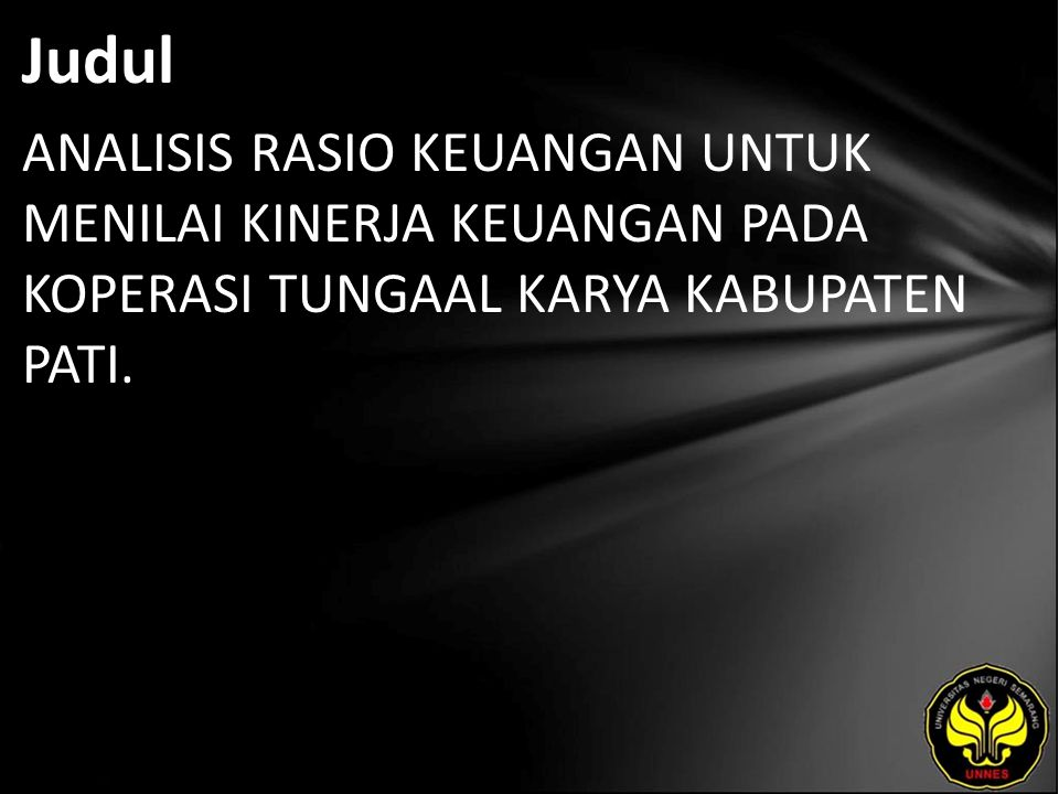 Abstrak SARI Yuli Tri Kurniawan.2010.