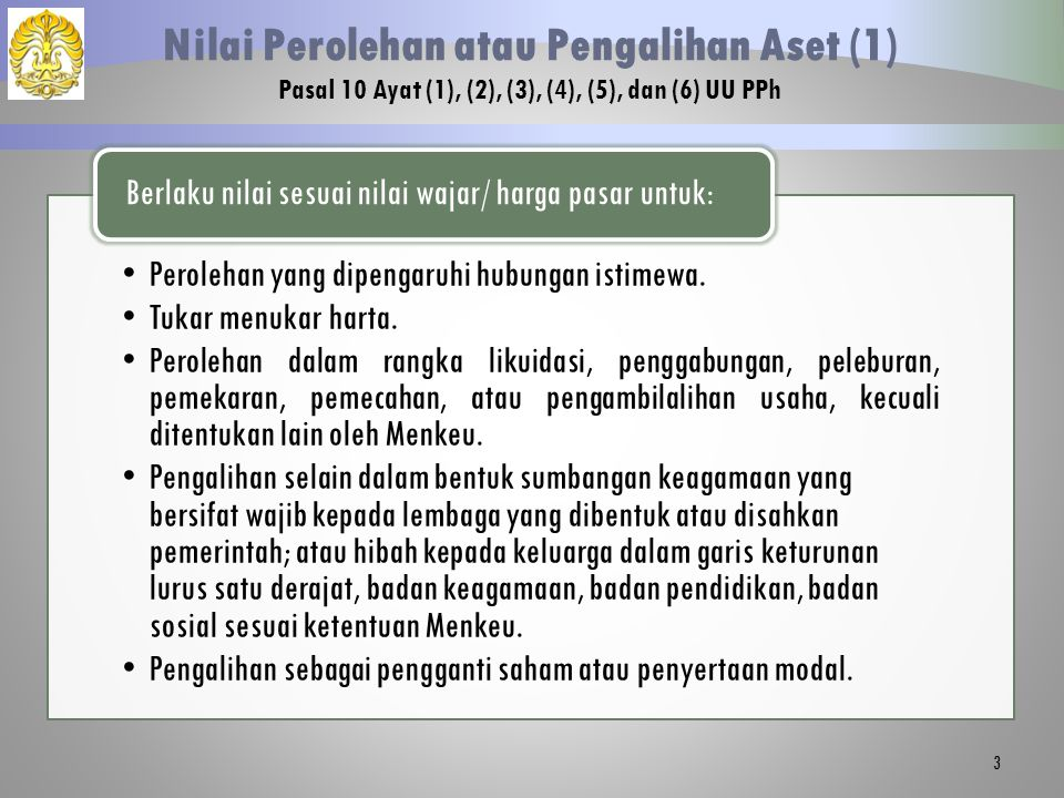 24 Penilaian Kembali Aset Tetap Pasal 19 UU PPh dan PMK No.