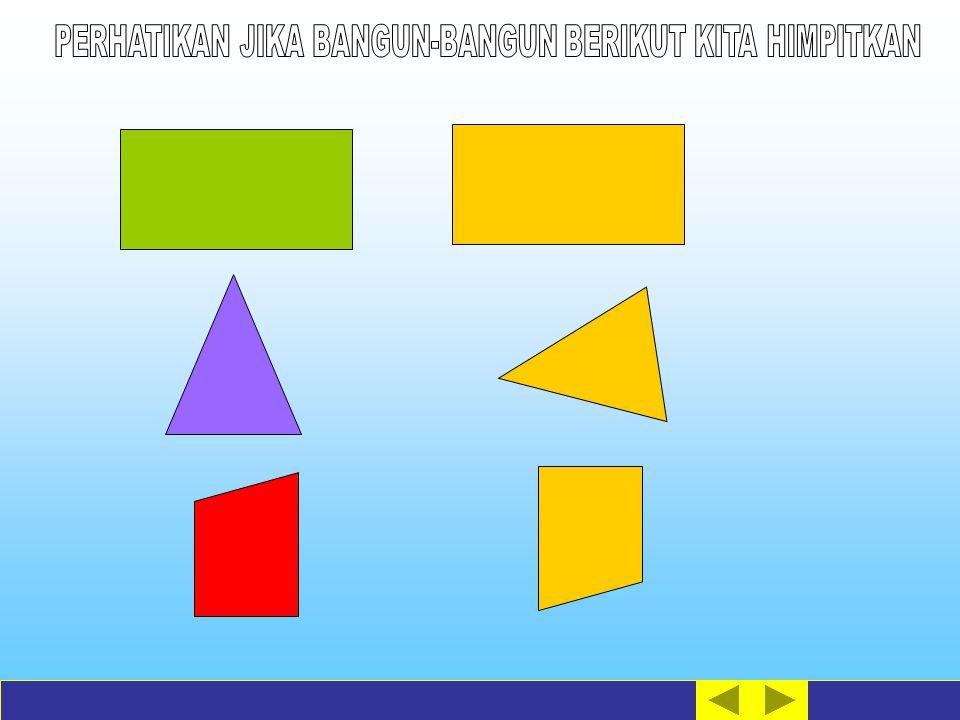 Klik pada bangun di sebelah kanan ( berwarna kuning) untuk menghimpitkannya.