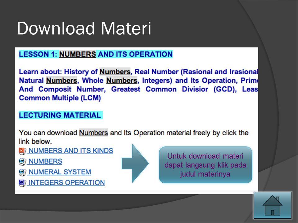 Download Materi Untuk download materi dapat langsung klik pada judul materinya