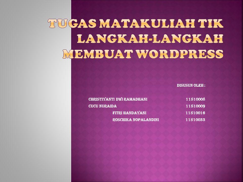 Disusun oleh : Christiyanti Dwi Ramadhani11510008 Cucu Nuraida 11510009 Fitri Handayani11510016 Roschika Nopalandini11510033