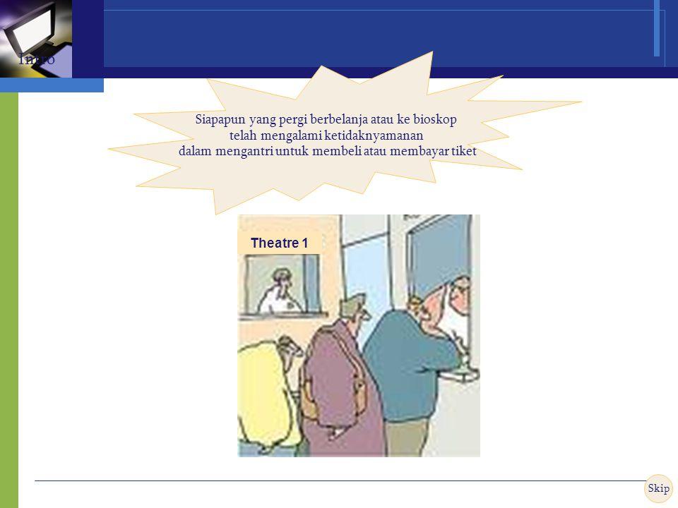 Theatre 1 Siapapun yang pergi berbelanja atau ke bioskop telah mengalami ketidaknyamanan dalam mengantri untuk membeli atau membayar tiket Skip Intro