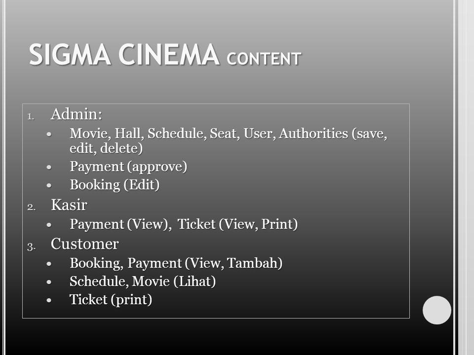 SIGMA CINEMA CONTENT 1.