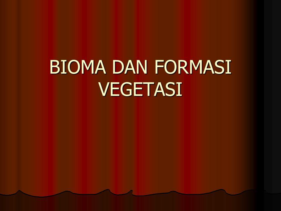 Biotik Realm BIOMAEKOSISTEM Daratan Taiga (hutan konifer) Hutan desidous 1.