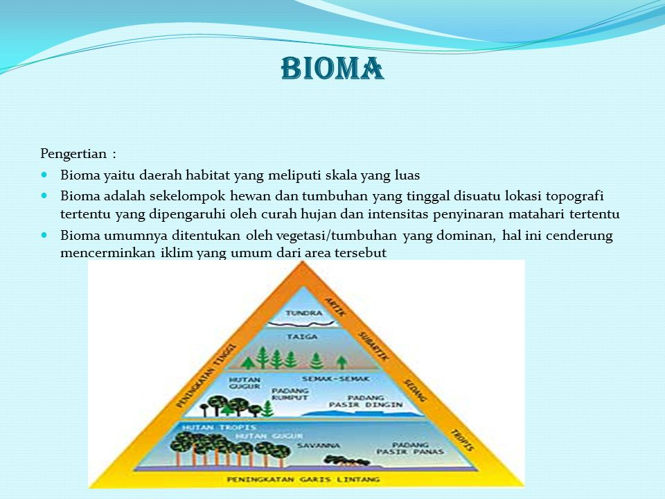 Penyebab persebaran 1. Faktor lingkungan : a. Faktor iklim b. Faktor tanah c. Faktor fisiografi d. Faktor biotik 2. Sejarah geologi 3. Tekanan populas