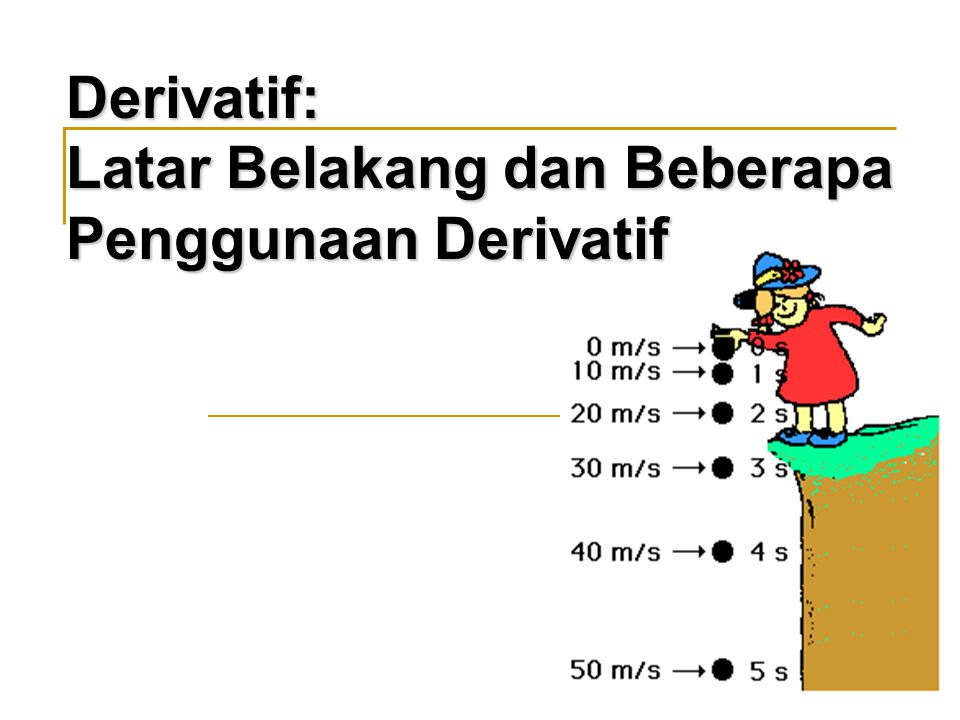 Derivatif: Latar Belakang dan Beberapa Penggunaan Derivatif