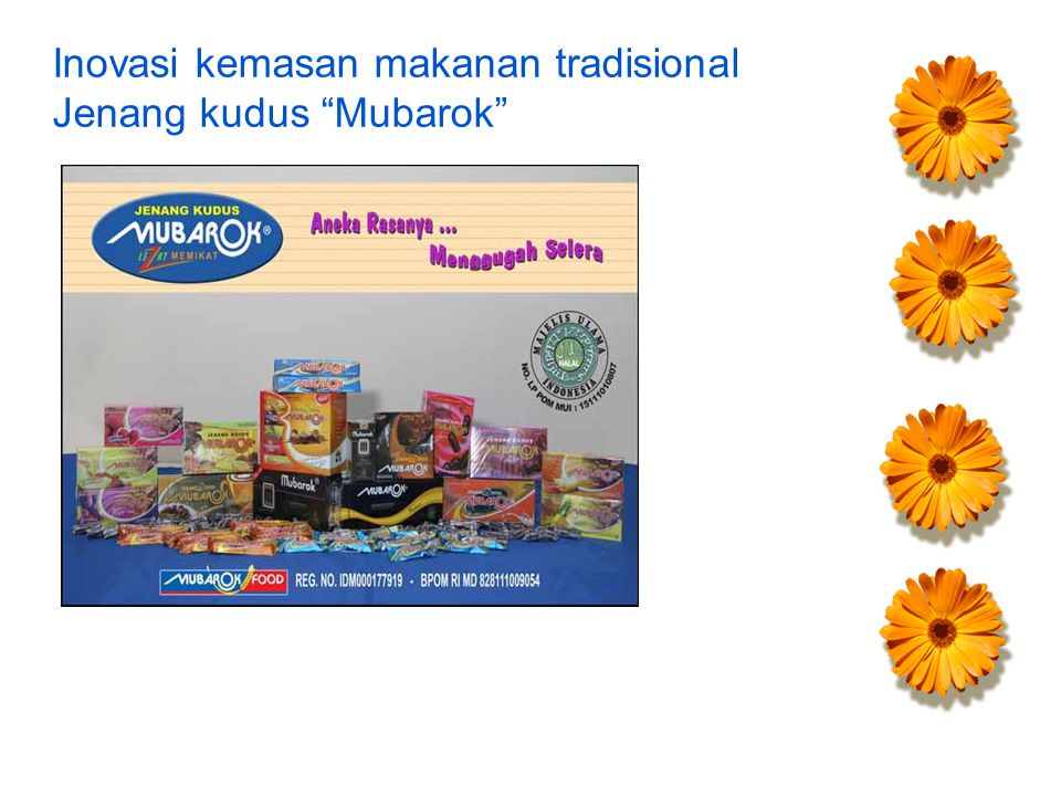 "Inovasi kemasan makanan tradisional Jenang kudus ""Mubarok"""