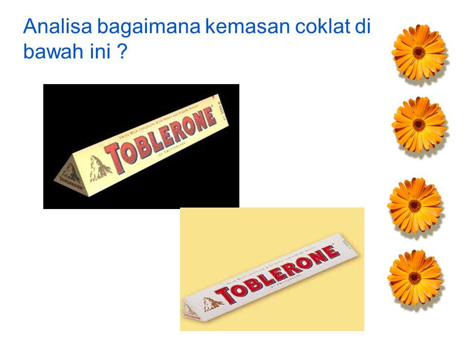 Analisa bagaimana kemasan coklat di bawah ini ?