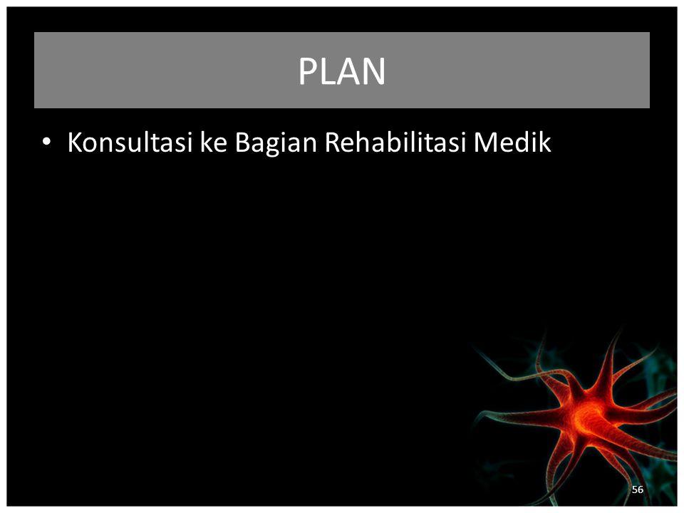 PLAN Konsultasi ke Bagian Rehabilitasi Medik 56