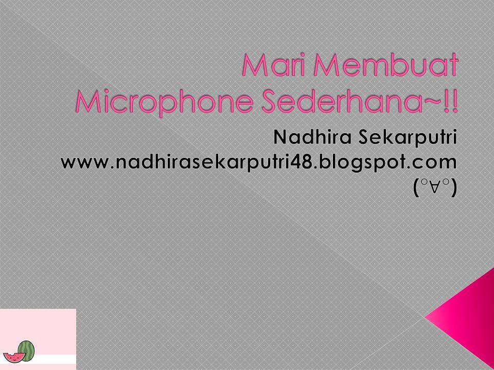 Mikrofon (bahasa inggris: microphone) adalah suatu jenis tranduser yang mengubah energi-energi akustik (gelombang suara) menjadi sinyal listrik.
