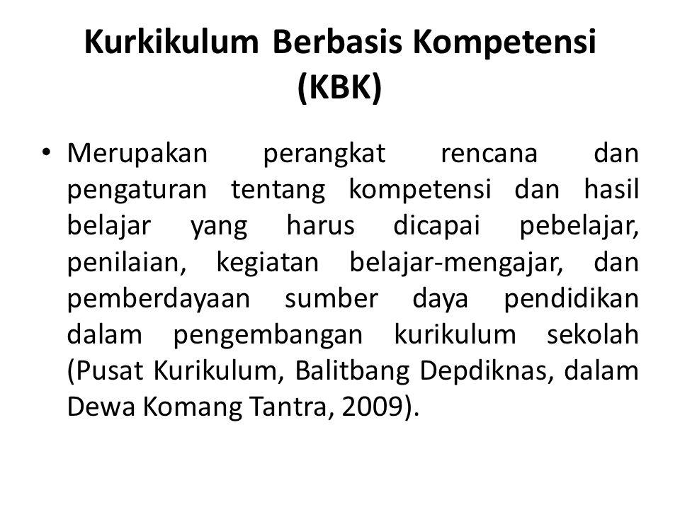 Kompetensi Mengacu pada kompetensi yang dikembangkan Anderson dan Krathwhol (2001), yaitu: 1) factual knowledge 2) conceptual knowledge 3) procedural knowledge 4) metacognitive knowledge