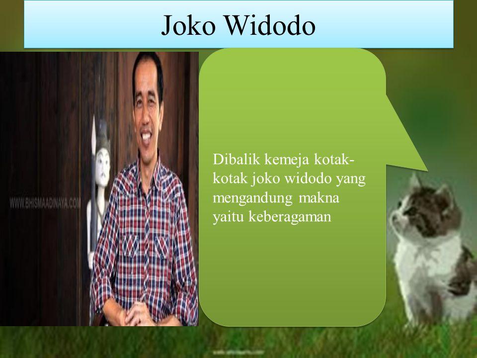 Joko Widodo Dibalik kemeja kotak- kotak joko widodo yang mengandung makna yaitu keberagaman