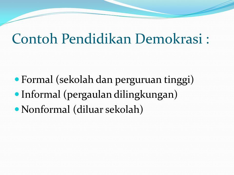 Jenis-Jenis Demokrasi 1) Demokrasi berdasarkan cara menyampaikan pendapat dibagi menjadi tiga: a.