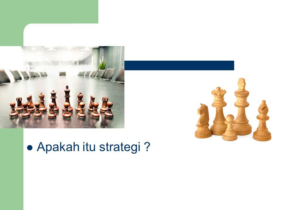 16 Apakah itu strategi ?