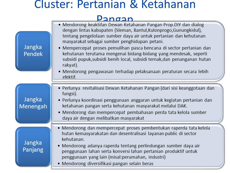 Cluster: Infrastructure Mendorong dan mempercepat penyelesaian infrastruktur yang memperhatikan tata ruang, community development, dan accesibility fo