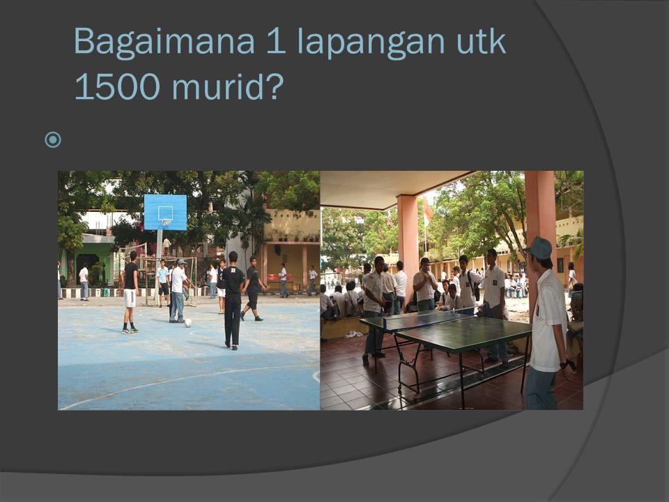 Bagaimana 1 lapangan utk 1500 murid? 