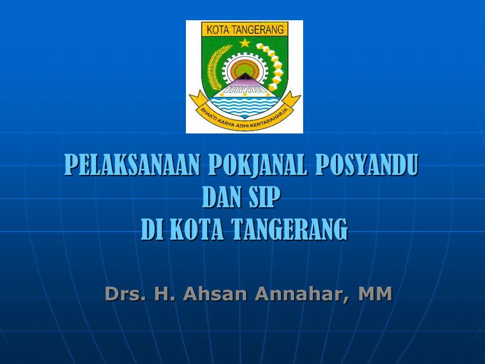 PELAKSANAAN POKJANAL POSYANDU DAN SIP DI KOTA TANGERANG Drs. H. Ahsan Annahar, MM