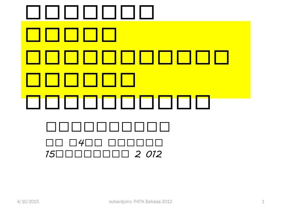 NoJudul penelitianRumusan MasalahJenis Penelitian 5Upaya Peningkatan Kemampuan Menyimak Bahasa Arab melalui Penggunaan Media Video bagi Siswa kelas 9 MTs Negeri 3 Pondok Pinang, Jakarta Selatan 6Upaya Peningkatan Hasil Belajar Bahasa Arab melalui Penggunaan Metode Gabungan (Pokok Bahasan Hobi pada Siswa Kelas X-F MAN Cibinong Tahun Pelajaran 2011/2012) 31suhardjono P4TK Bahasa 20124/10/2015