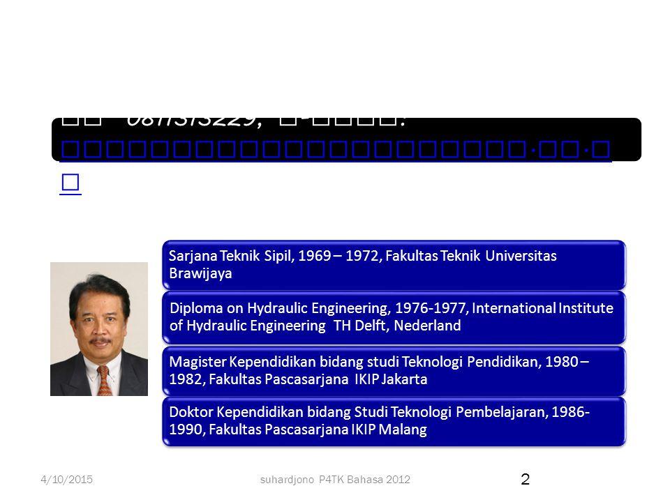 suhardjono P4TK Bahasa 2012 Prof.DR. Ir. Suhardjono, M.