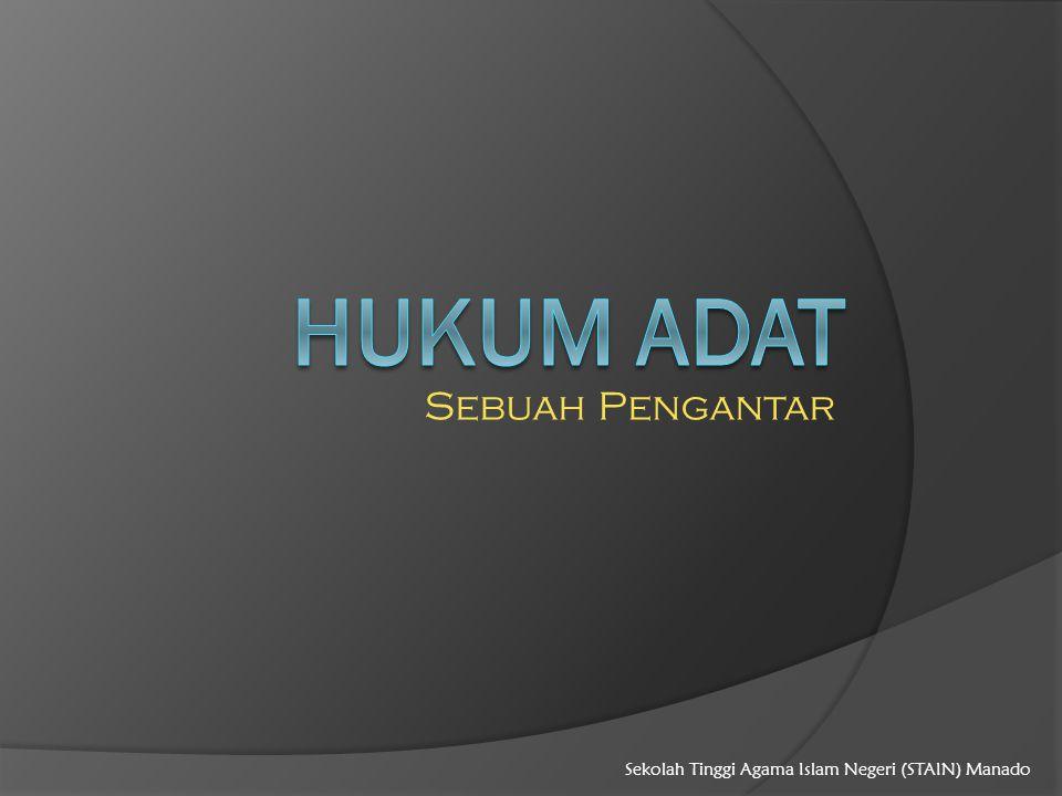 Sebuah Pengantar Sekolah Tinggi Agama Islam Negeri (STAIN) Manado