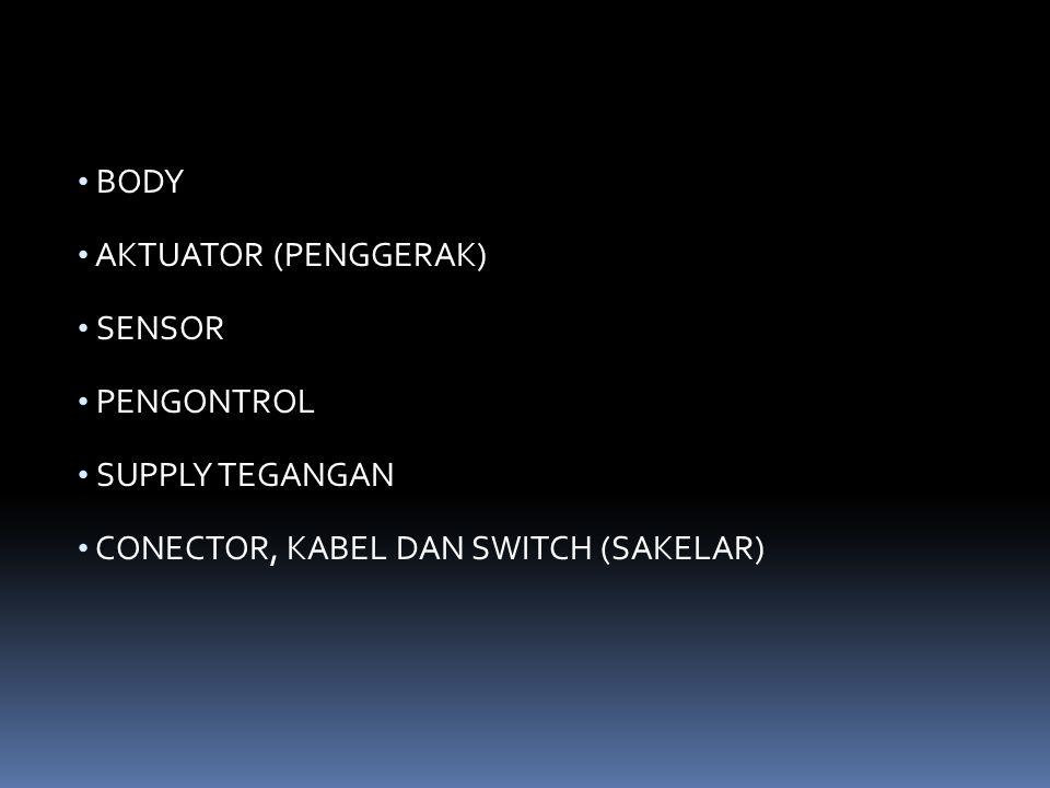 BODY AKTUATOR (PENGGERAK) SENSOR PENGONTROL SUPPLY TEGANGAN CONECTOR, KABEL DAN SWITCH (SAKELAR)