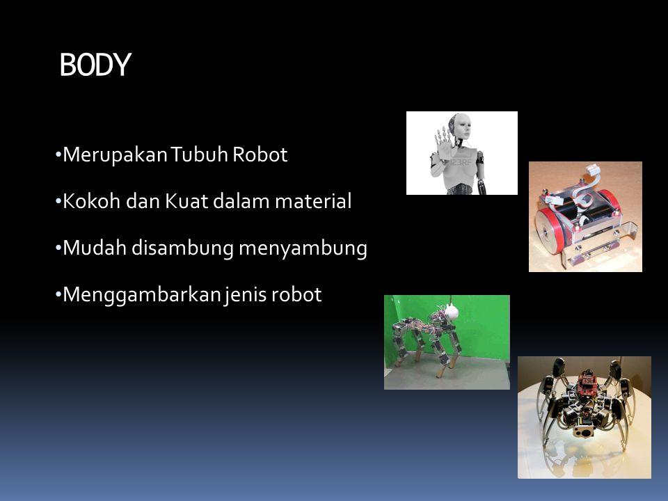 Merupakan Tubuh Robot Kokoh dan Kuat dalam material Mudah disambung menyambung Menggambarkan jenis robot BODY