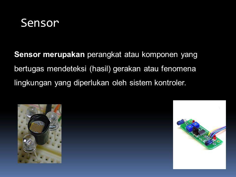 1.Sensor Jarak 2. Sensor api 3. Sensor garis 4. Sensor magnet kompas 5.