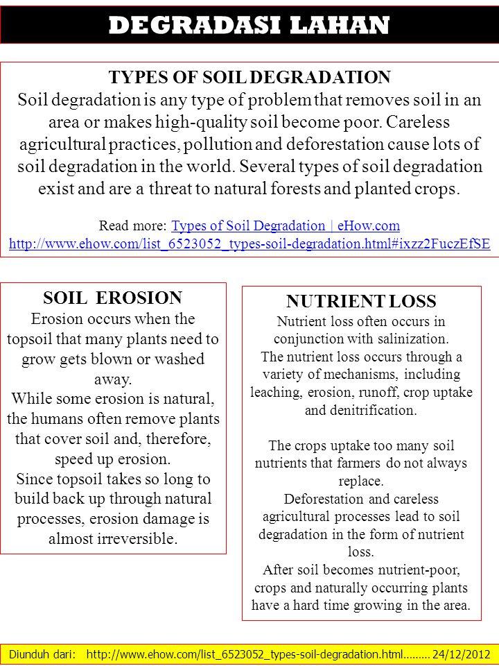 Diunduh dari: ……… 24/12/2012 EROSI TANAH EROSION EFFECTS ON SOIL WATER STORAGE, PLANT WATER UPTAKE, AND CORN GROWTH B.