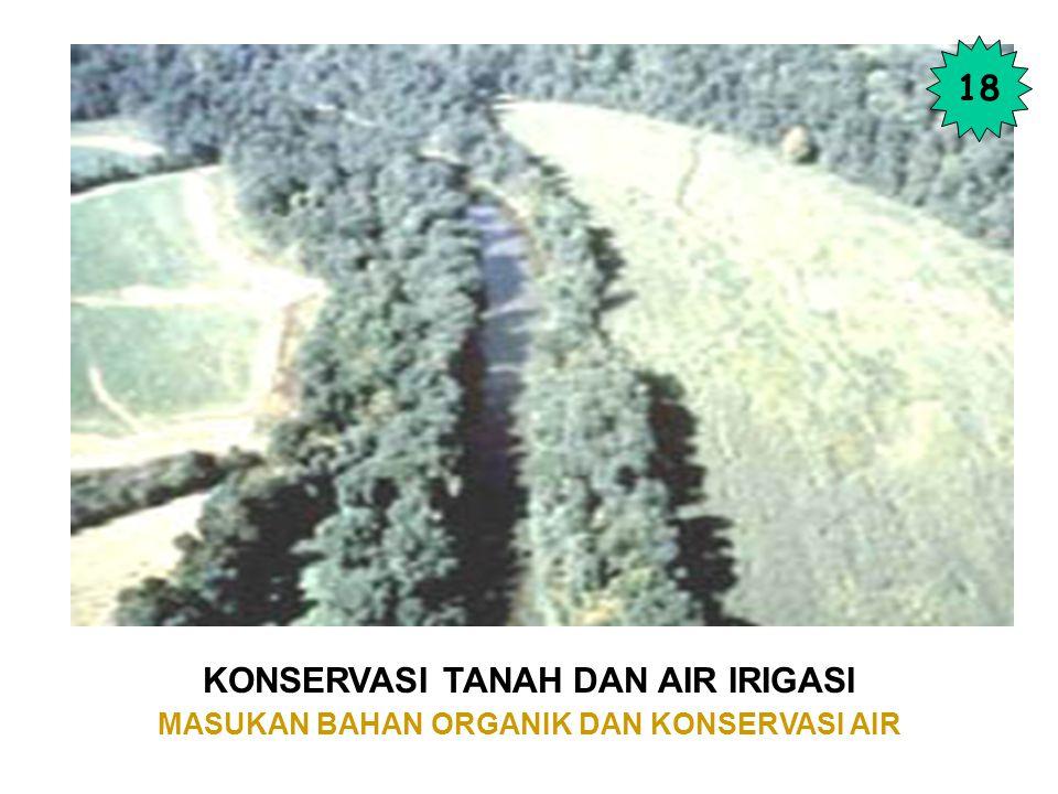 KONSERVASI TANAH DAN AIR IRIGASI MASUKAN BAHAN ORGANIK DAN KONSERVASI AIR 18