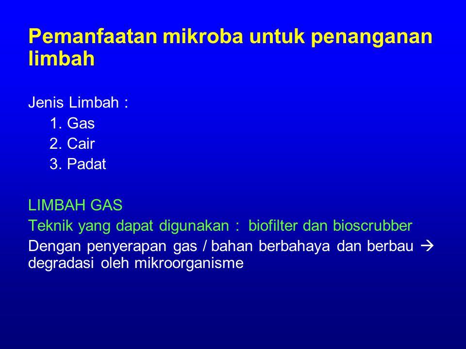 Pemanfaatan mikroba untuk penanganan limbah Jenis Limbah : 1.