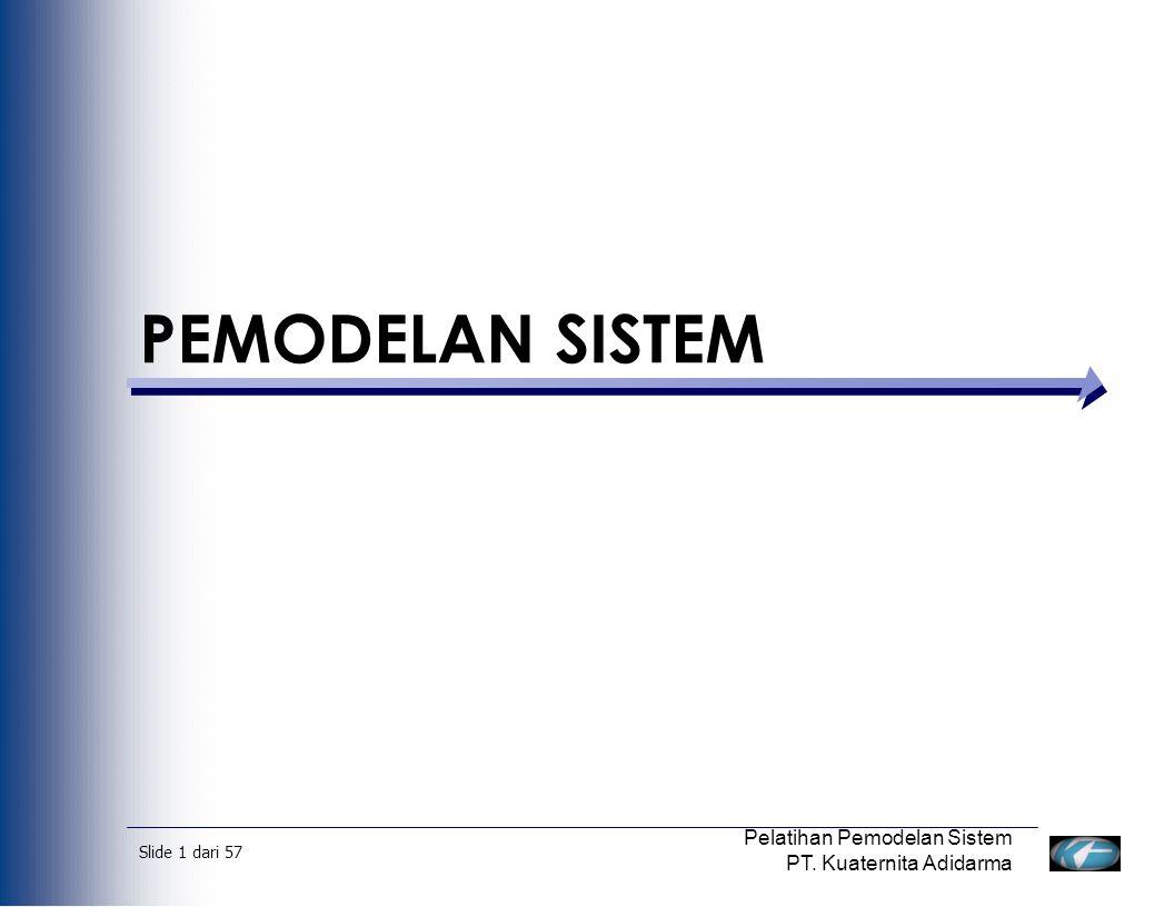 Slide 2 dari 57 Pelatihan Pemodelan Sistem PT.