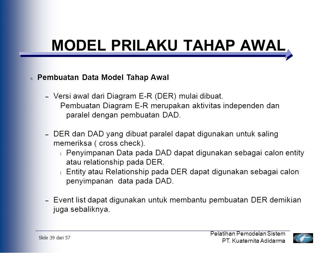Slide 40 dari 57 Pelatihan Pemodelan Sistem PT.