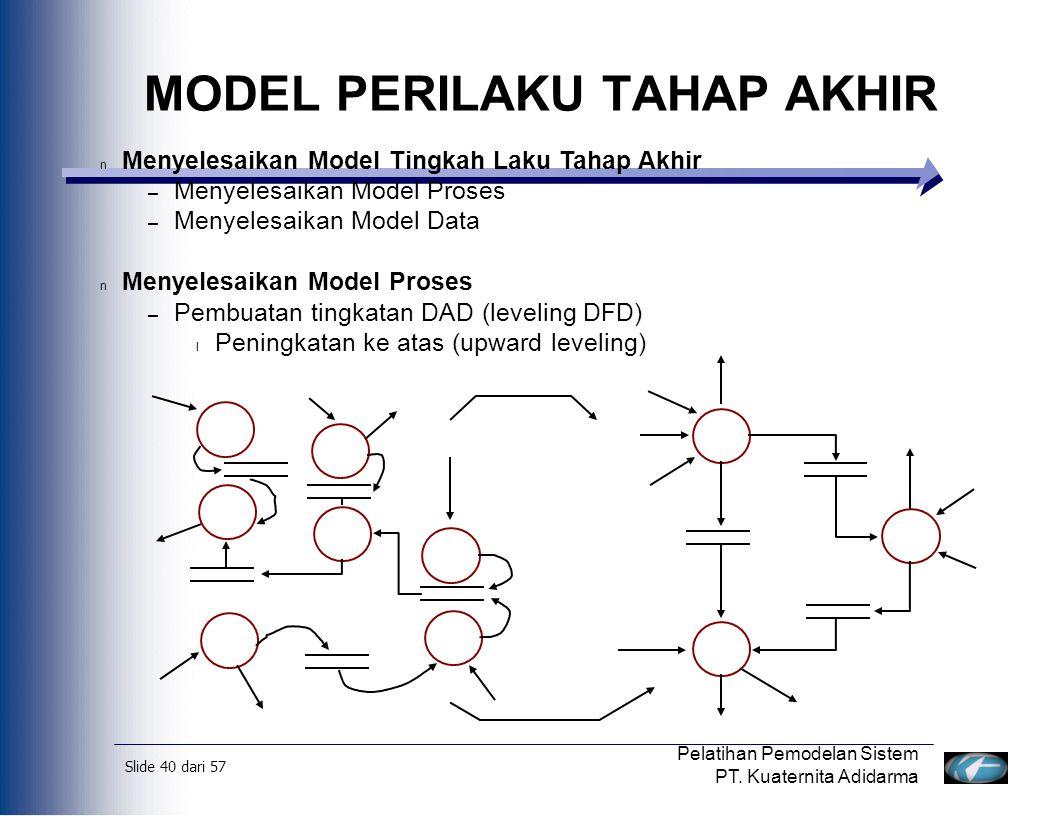 Slide 41 dari 57 Pelatihan Pemodelan Sistem PT.