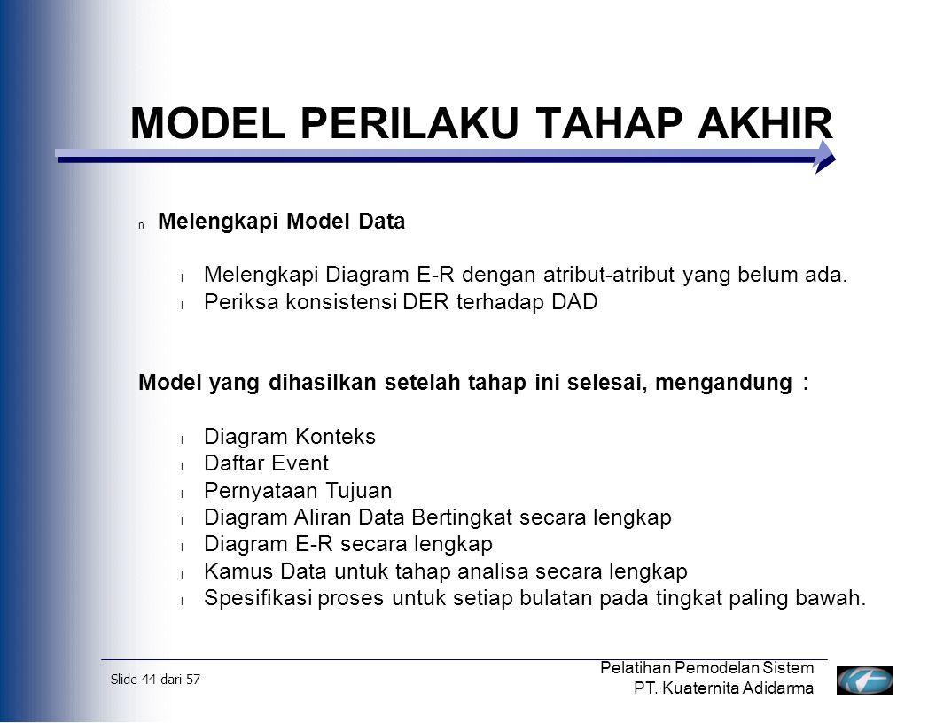 Slide 45 dari 57 Pelatihan Pemodelan Sistem PT.